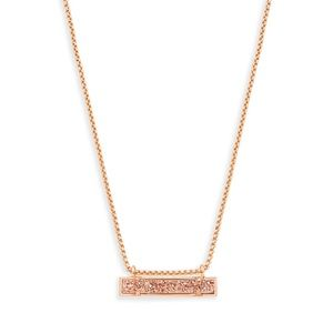 NWOT Kendra Scott Leanor Bar Necklace (rose gold)